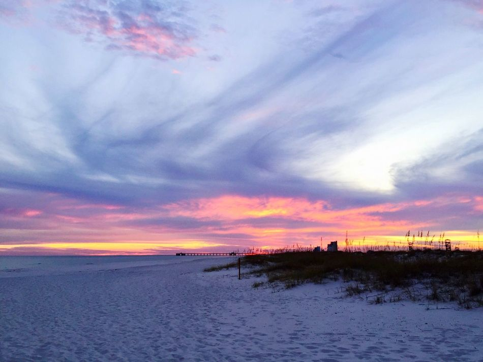 Tranquil Scene Sunset Sky Beach Sea Nature Beauty In Nature Scenics Outdoors Cloud - Sky Water Tranquility No People Sand Horizon Over Water Day EyeEm Best Shots Clouds And Sky Landscape