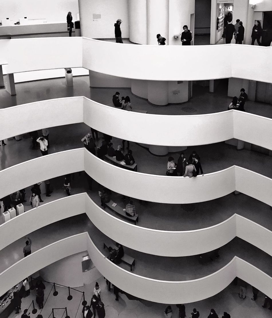 """""""Every great architect is - necessarily - a great poet. He must be a great original interpreter of his time, his day, his age."""" Happy birthday to Frank Lloyd #Wright, born #onthisday in 1867! Frank Lloyd Wright Guggenheim New York City Architecture Architectural Detail Blackandwhite Mpro Iphone6 Mobilephotography"""