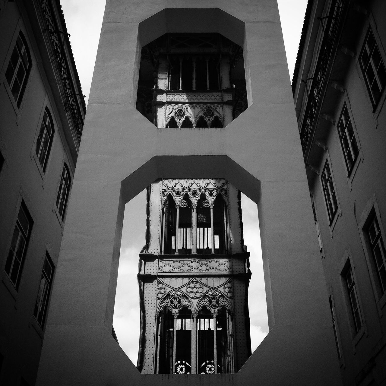architecture, built structure, building exterior, window, low angle view, day, facade, no people, outdoors, place of worship, sky