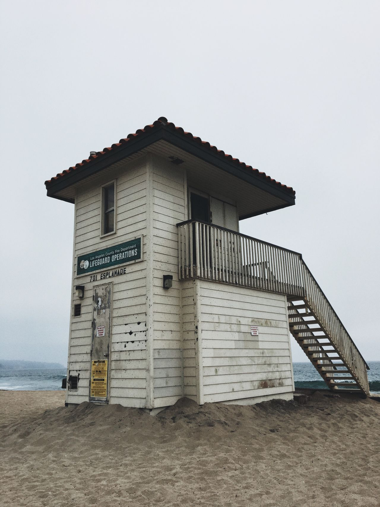Beach Built Structure Sand Architecture Lifeguard Hut Day Outdoors No People Sea Building Exterior Sky Clear Sky Water Nature Horizon Over Water Lifeguard