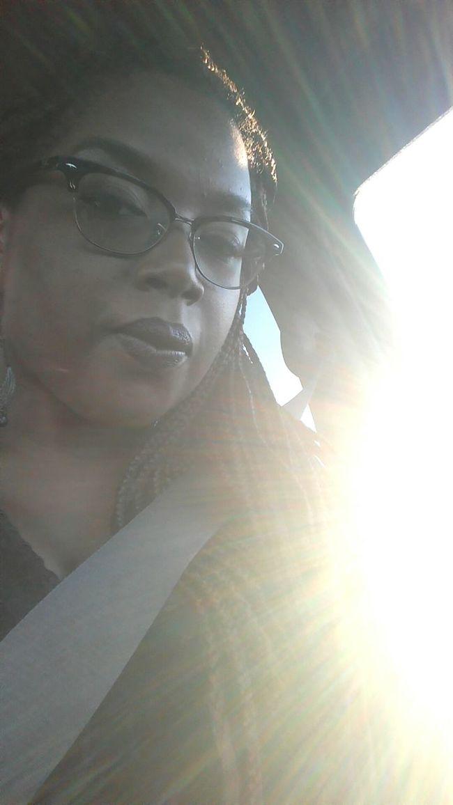Let the Sunshine in. FrontSeatShot carselfie enroute