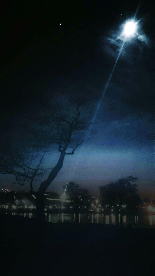 Nightphotography Night Nature Moonlight Moon Sky And Clouds Sky First Eyeem Photo