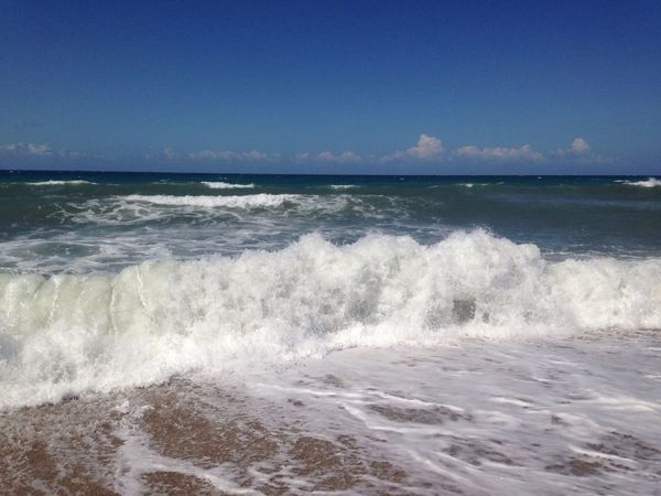 Sea Wave Water Nature Beauty In Nature Motion Scenics No People Beach Outdoors Blue Sky Day Clear Sky