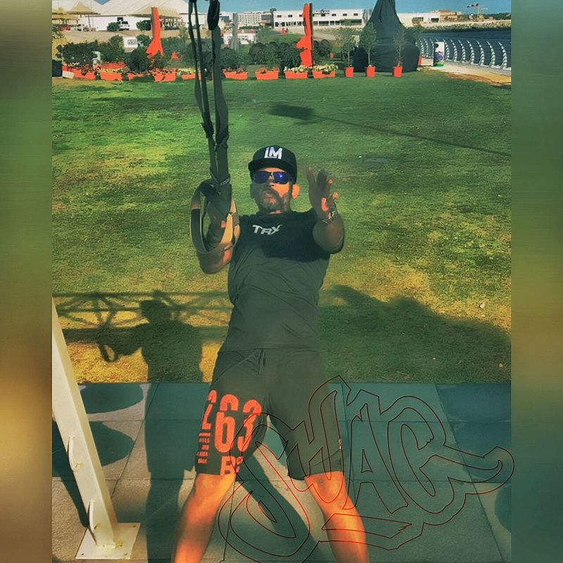TRX Force Training #skydivedubai #parveez.m #redsamurai #redsamurai #warriorscode Fitnessmodel Mens Fitness Body & Fitness TRXD Parveez Muscle Maintenance JLT Dubaimarina TRX Train