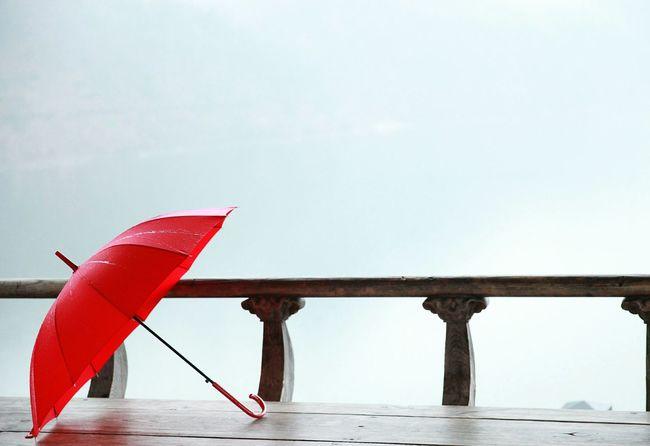 Photo Fog Cannon River View Umbrella Red Redumbrella