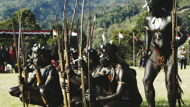 Papua,Indonesia Independenceday Celebration Tolikara Indonesian INDONESIA Papuan Papuabarat Cultures Cultural Heritage Local People