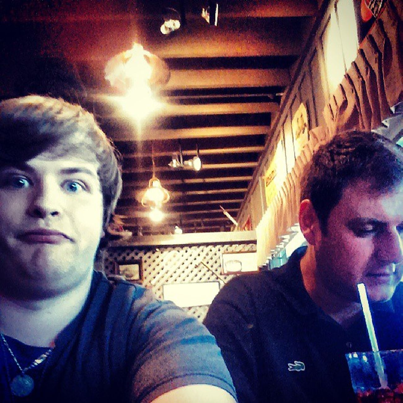 Me and dad Familynight Cracklebarrel