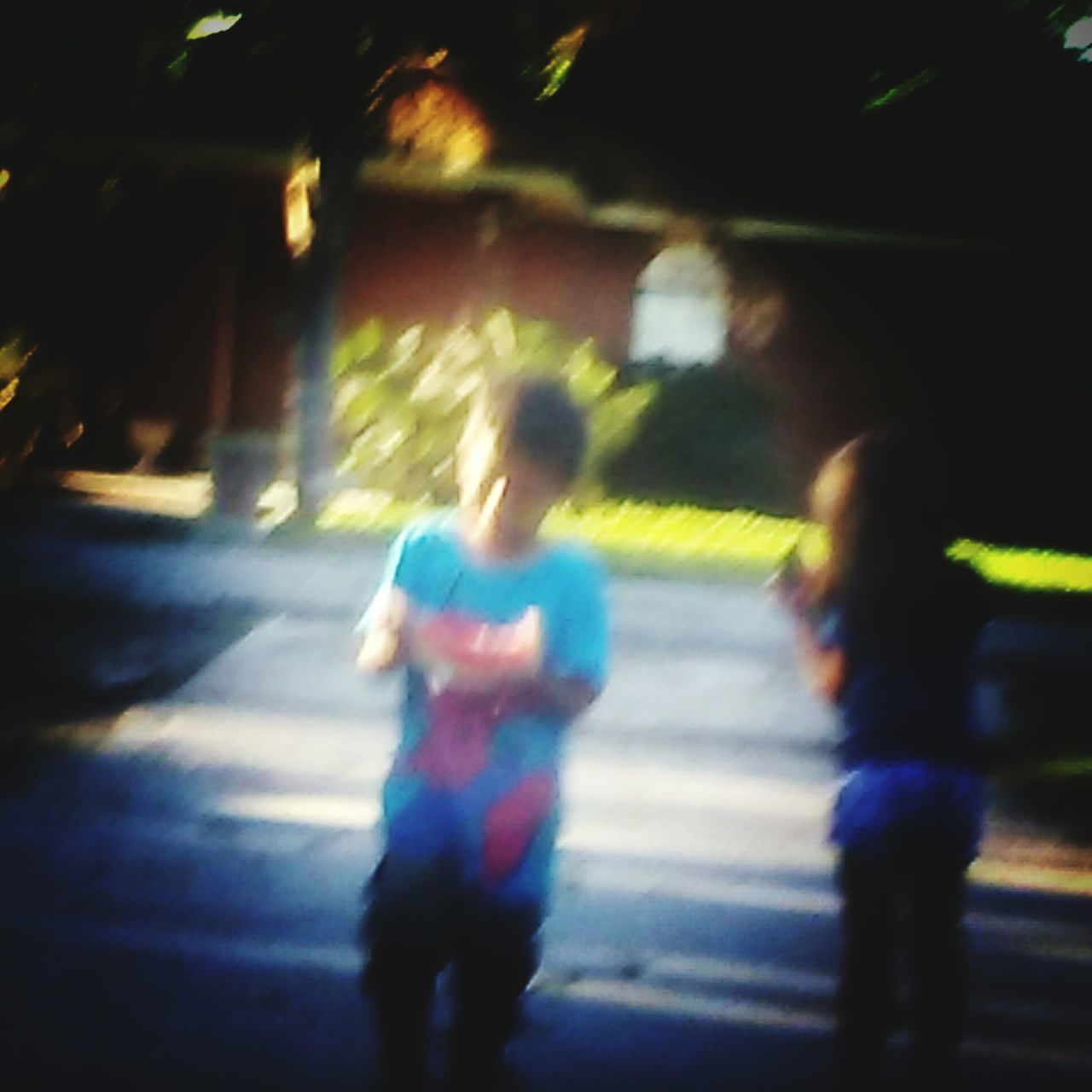 Blurred Motion Street City Street Road Motion People City Life Two People Outdoors Speed City Lifestyles The Great Outdoors - 2017 EyeEm Awards Eating Watermelon