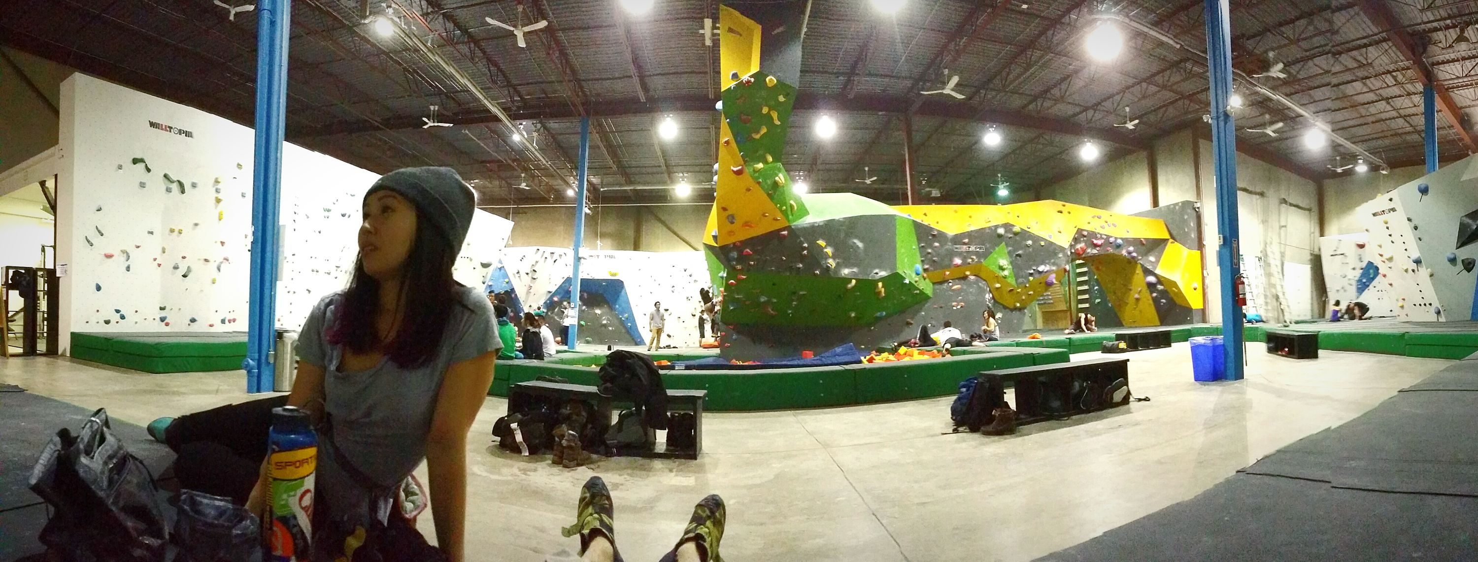 The Places I've Been Today Canadas largest indoor bouldering gym the Hub. Photo by Daniel Luk Rock Climbing Bouldering Bouldering Wall Climbing Panorama Tsumuraphotography Canada The Hub