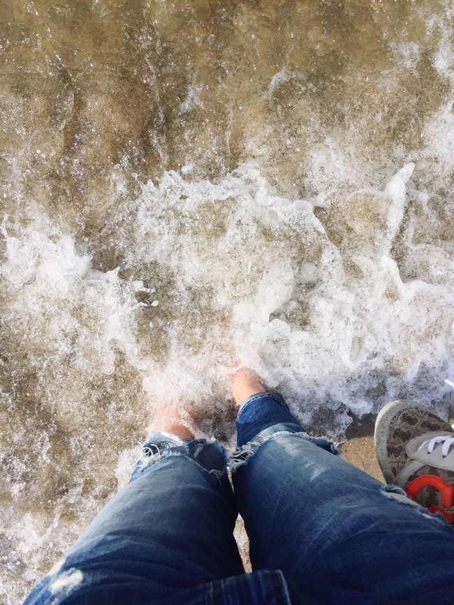 Low Section Person Standing Snow Personal Perspective Shoe Winter Cold Temperature Season  Water Casual Clothing Day Cliff Rocky Solitude Summer Sea