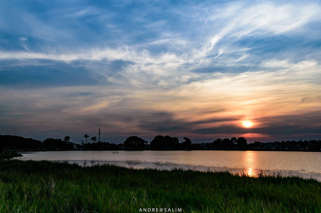 Beauty In Nature Lagoon Nature Panoramic Reflection Sky Sunset Water