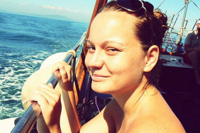 Me, Myself And I Born To Travel Sun In My Face Boat Trip No Make-up Korfu Greece Feeling Happy Feeling Free Eyeem Travel Photograpy World Traveller Happiness Freedom Sun, Sea And A Boat Things I Like