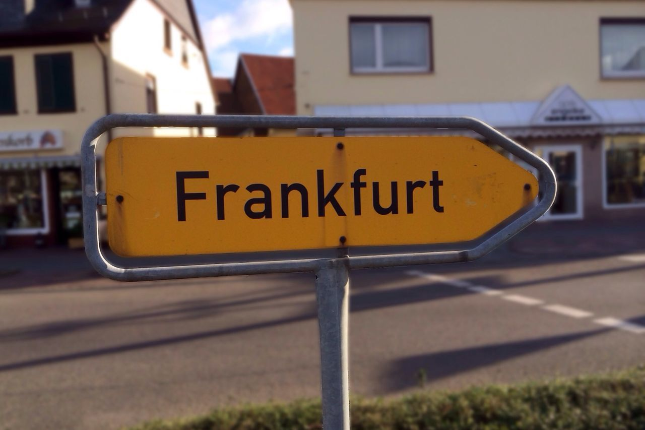 So, that's where Frankfurt is…