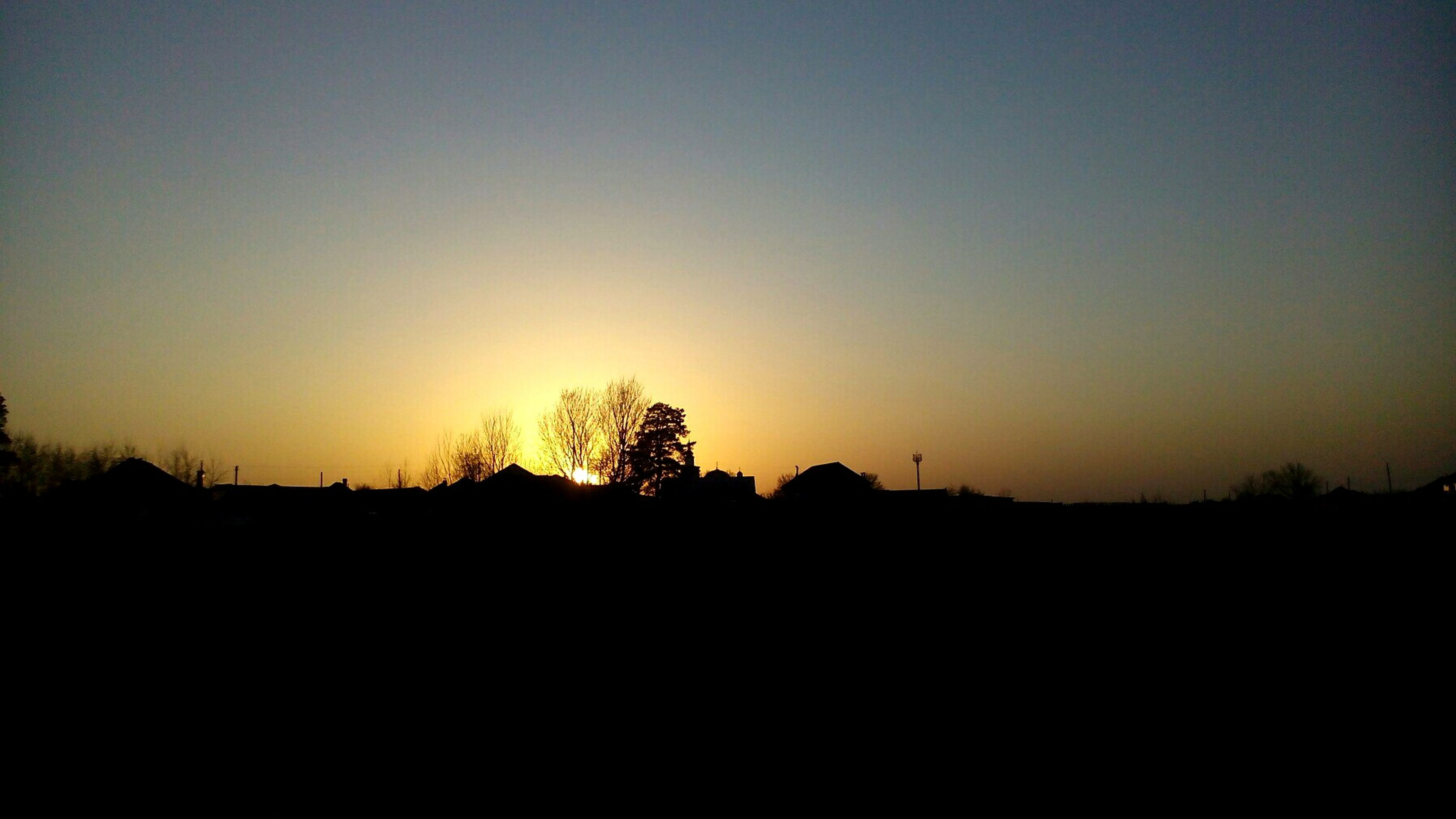 silhouette, sunset, nature, sky, no people, tranquility, beauty in nature, outdoors, tree, scenics