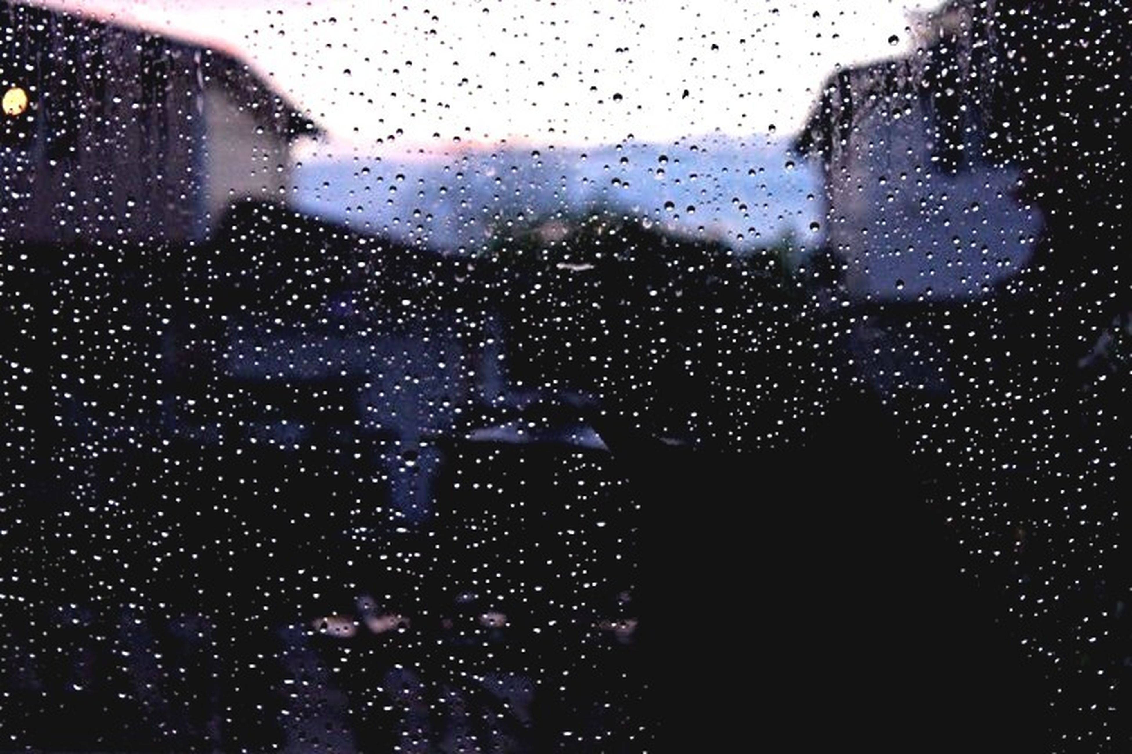 window, drop, transparent, wet, indoors, glass - material, rain, raindrop, water, weather, glass, season, looking through window, sky, full frame, backgrounds, focus on foreground, water drop, built structure, car