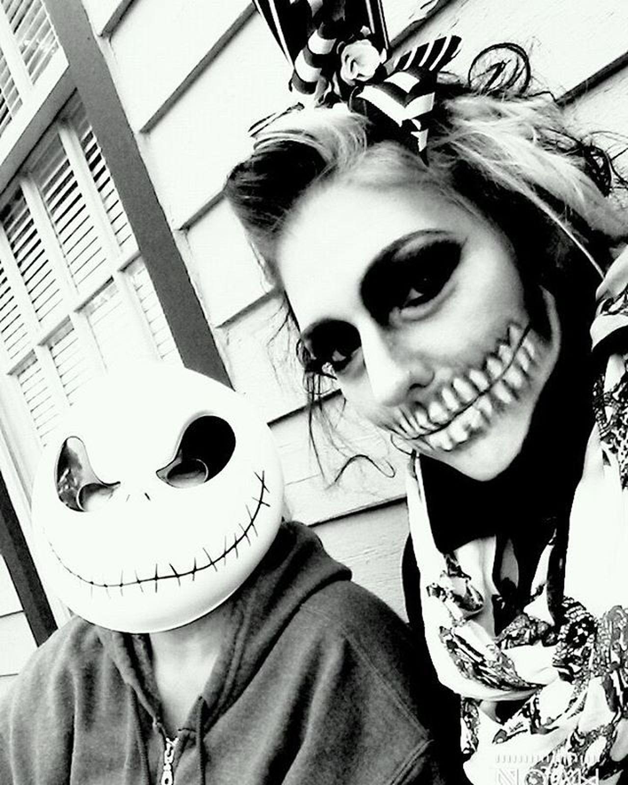 Smithvillezombiewalk Ghouls Skulls Jack Bw Blackandwhite Zombiewalk