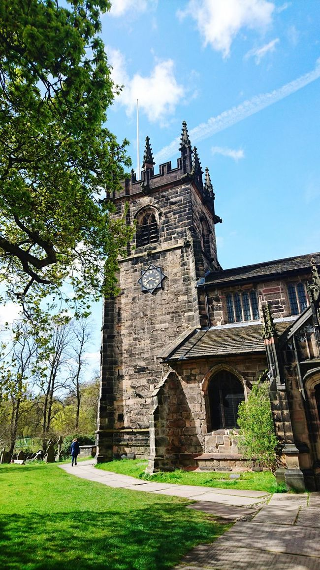Church Churchyard Historical Building Old Buildings Blue Sky Sacred Places Going For A Walk Taking Photos Check This Out Hello World Wilmslow, Cheshire, UK.