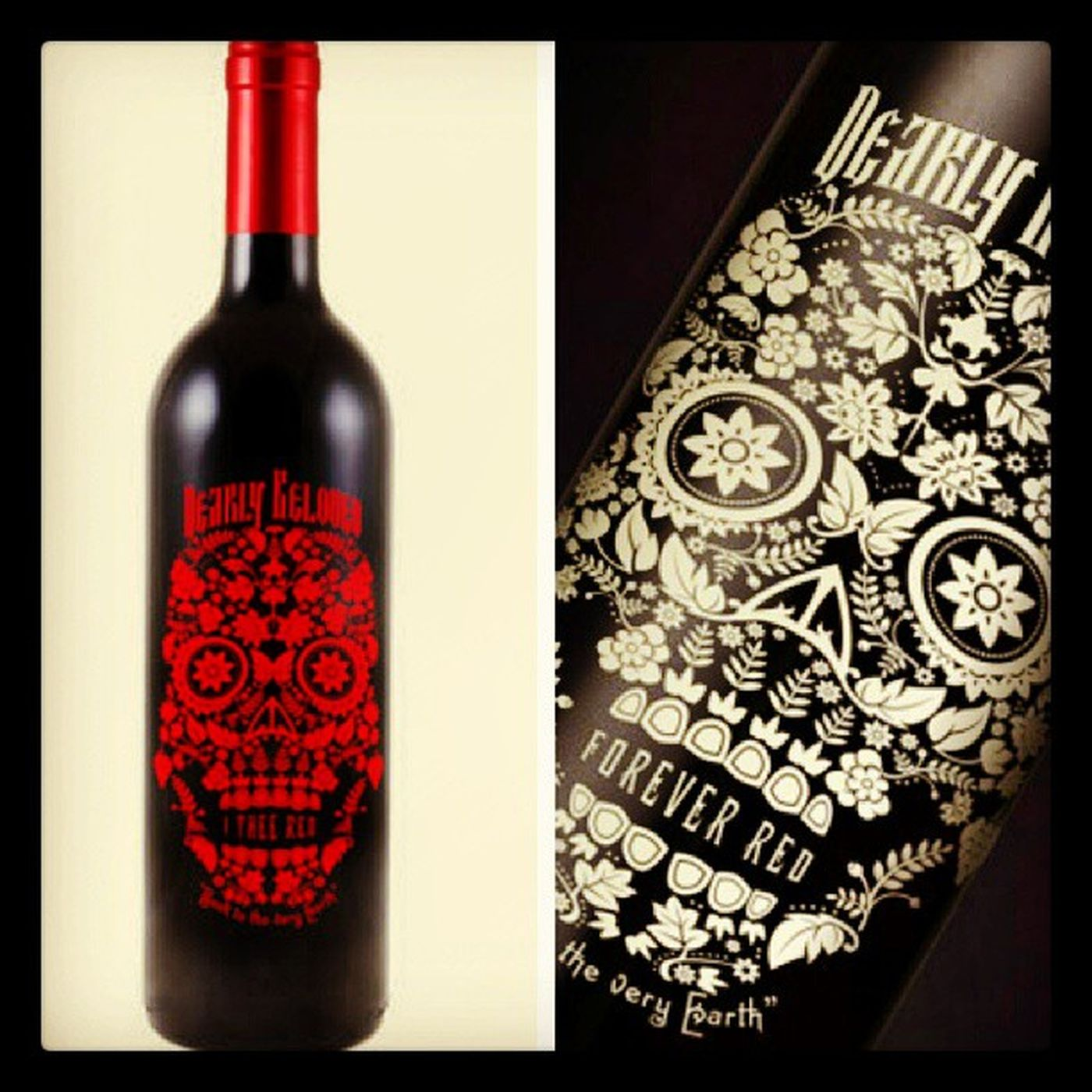 I want to try out this wine Dearlybeloved Wine Skull Dayofthedead ItheeRed ForeverRed red