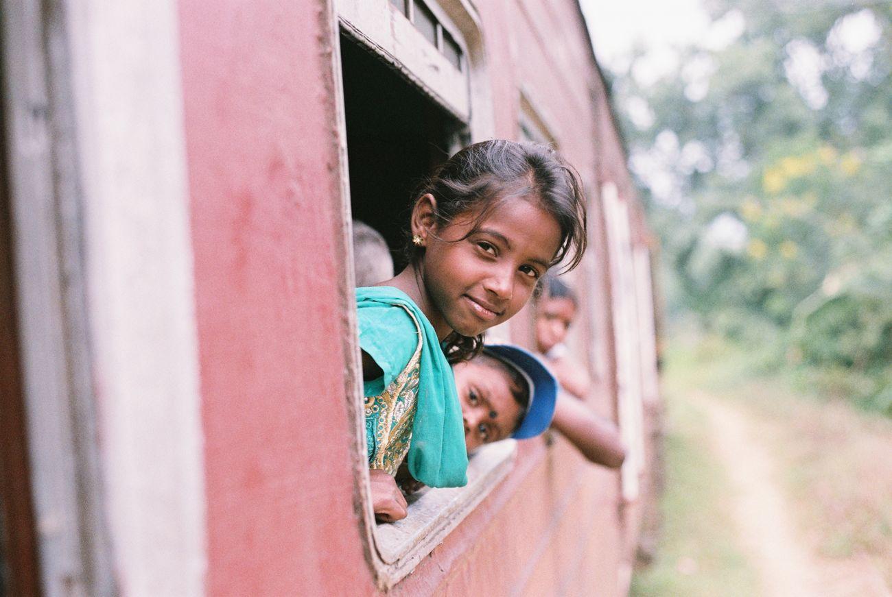 Film Filmisnotdead Film Photography Fm2 135film Sri Lanka Girl Travel Trip On The Train Smile Sweet