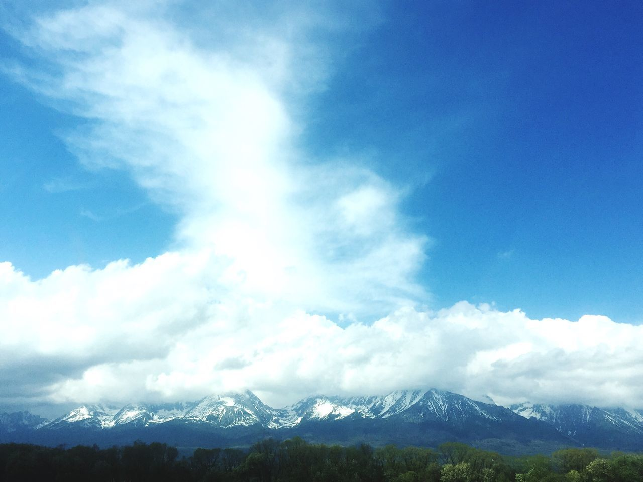 Mountain Beauty In Nature Nature Sky Day Tranquil Scene Mountain Range Outdoors Landscape Scenics Blue Snow