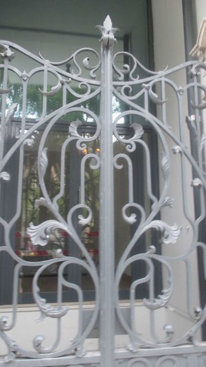 Beautiful Fence Beautiful Gate Beautiful Old Fence Beautiful Ornaments City Details Close-up Closed Gate Connection Day Detail From Lisbon Ellegance Fence Gate In Lisbon Gray Gate Gray Iron Gate Indoors  Iron Fence Metal Network Server No People Old Fence Old Gate Old-fashioned Ornament Technology