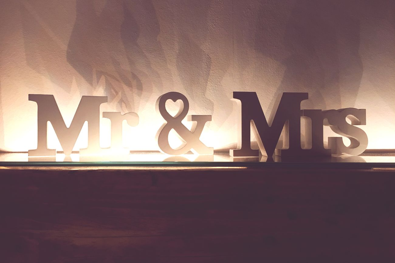 Text Western Script Communication Capital Letter Words Single Word Indoors  No People Alphabet Illuminated Close-up Night Mr And Mrs Couple Interior Design Interior Old-fashioned Old Wood Light And Shadow Relationship Love You And Me Living Room