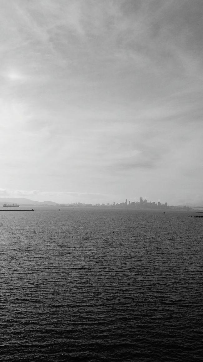 San Francisco City Blackandwhite Ocean Golden Gate Bridge Bridge