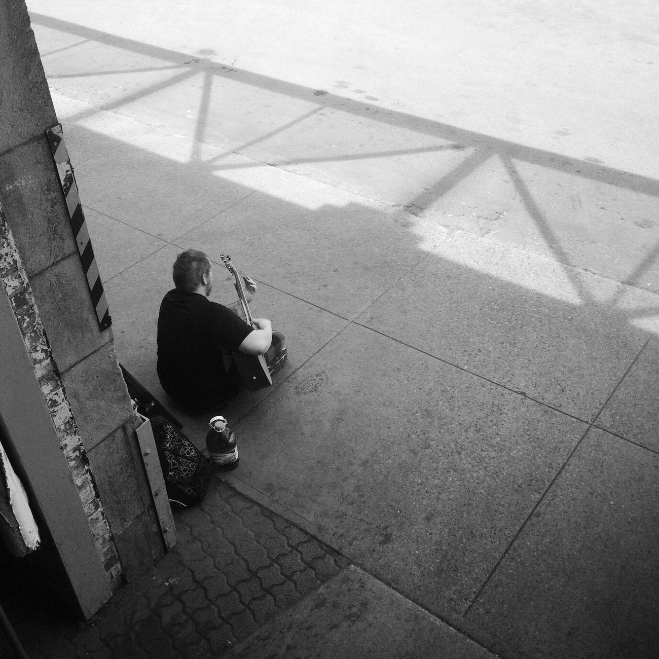 a singer Singer  Guitar Toronto Toronto Canada Terminal Inbus Men Shadow City Life Monochrome