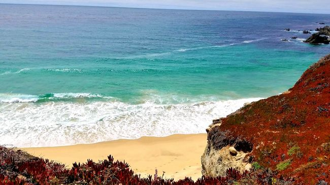 Highway 1 California Coast Beautiful Beautiful Nature Cliffside Ocean Sand & Sea Big Sur, California. MyPhotography My Perspective Myhappyplace Myhome Livelaughlove♡ Mylife ♡