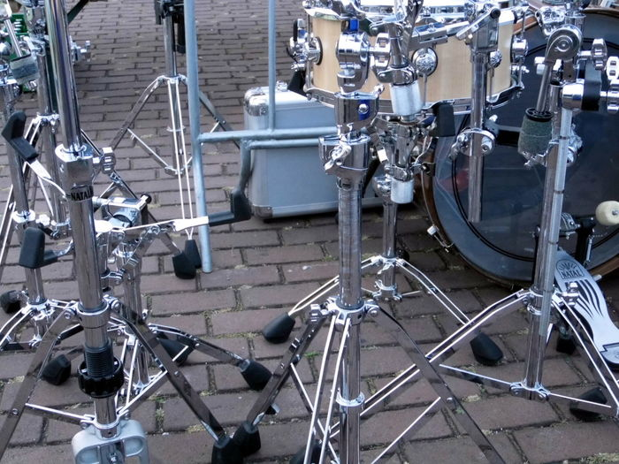 Complexity Drumkit Form Full Frame Musicinstrument Shapes And Forms Shiny Silver  Stands