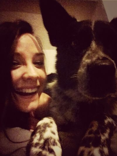 sorry it's so blurry Lol... still awesome:) love my Remy!! My Piece Of Paradise <3 Puppens <3 I Love My Dog❤