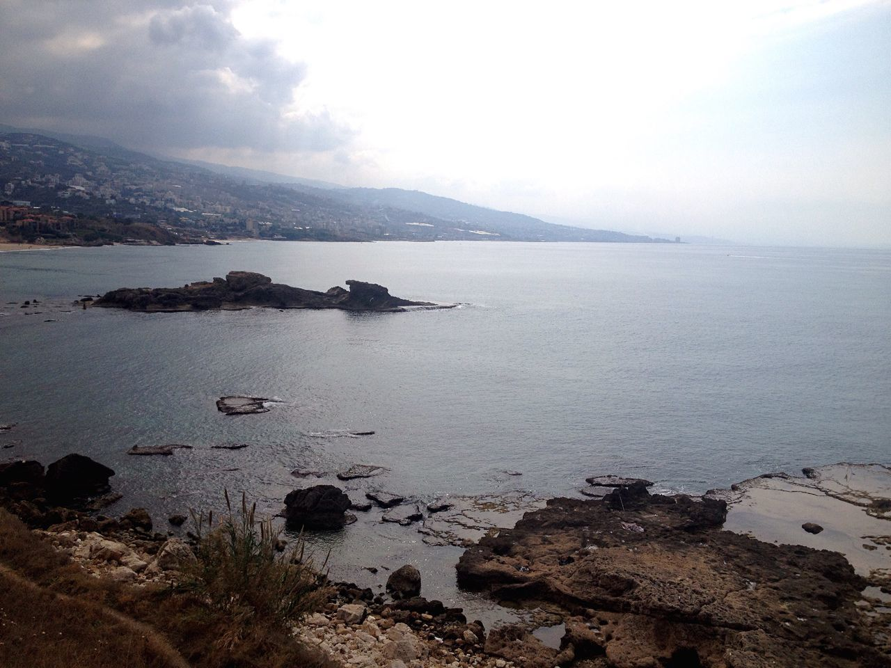 Beach Scenics Sea Rocks And Water Rocky East Mediterranean Lebanon