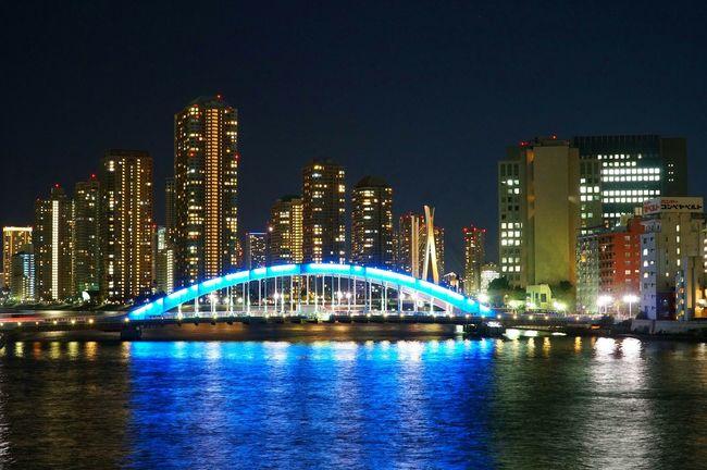 Night View Streetphotography Bridgeporn Cityscapes Urbanscape Walking Around Sumidariver Water Reflections Bridge