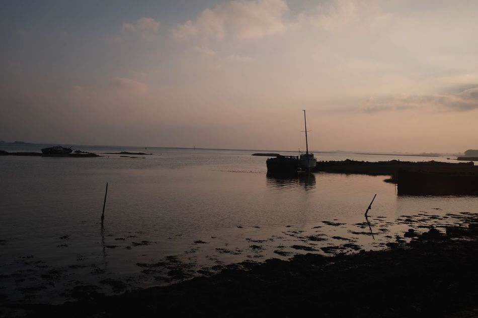 Low tide, morning view across the estuary Sky Water Tranquility Nautical Vessel Boat Medway Estuary Medway River