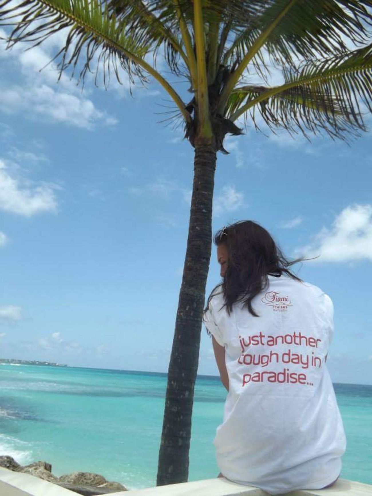 RePicture Travel Just another tough day in paradise☀️ Barbados Virgin Holidays Virgin Atlantic Traveling Holiday Palm Trees Sea Hello World Enjoying Life
