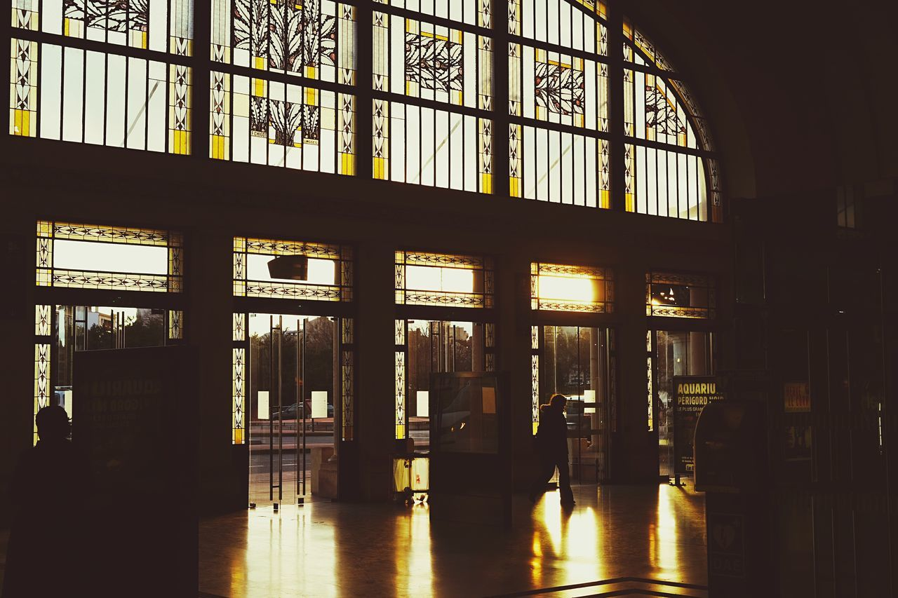 indoors, window, architecture, built structure, illuminated, transportation, day, no people