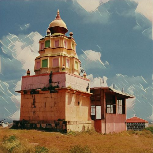 Temple - Building Sunlight Multi Colored Sky Outdoors No People Templephotography Templesofindia Dome India Edited Day Pune Viewfrombackside