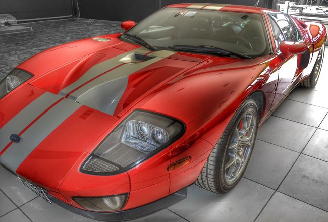 Ford GT Car Transportation Shiny Racecar Auto Racing Motorsport Red Man Made Object