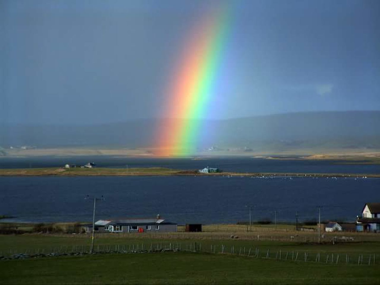 Rainbow Stennessloch Stenness Lochofharray Orkneyislands Johnnelson Lifeasiseeit Scotland Harrayloch Island Life Scottish Weather!!!