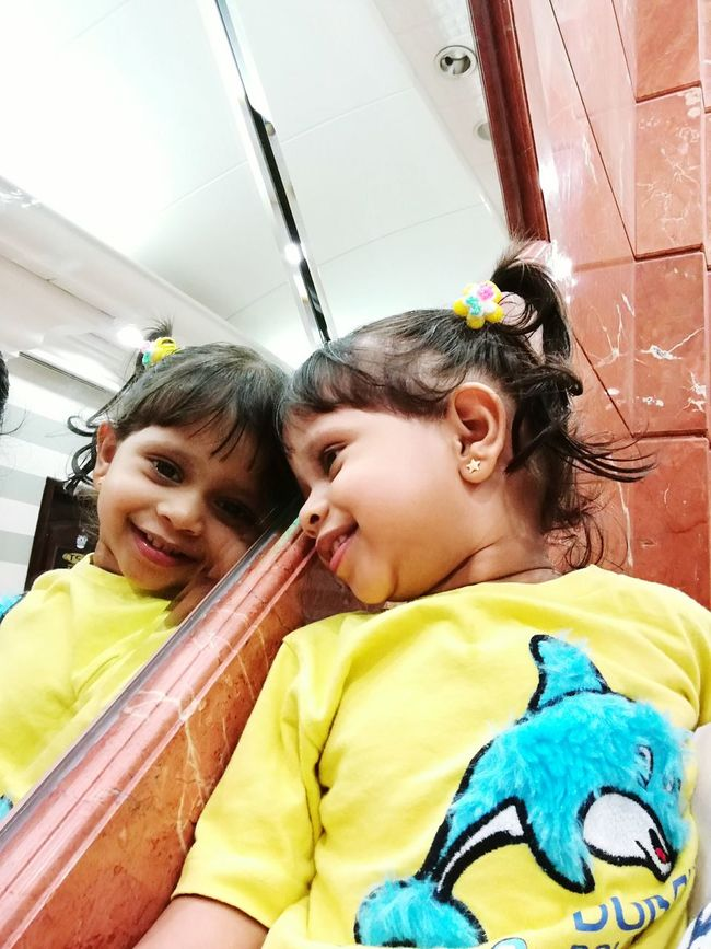 Hello World Taking Photos My Angel My Love❤ Looking Through The Mirror Smiling