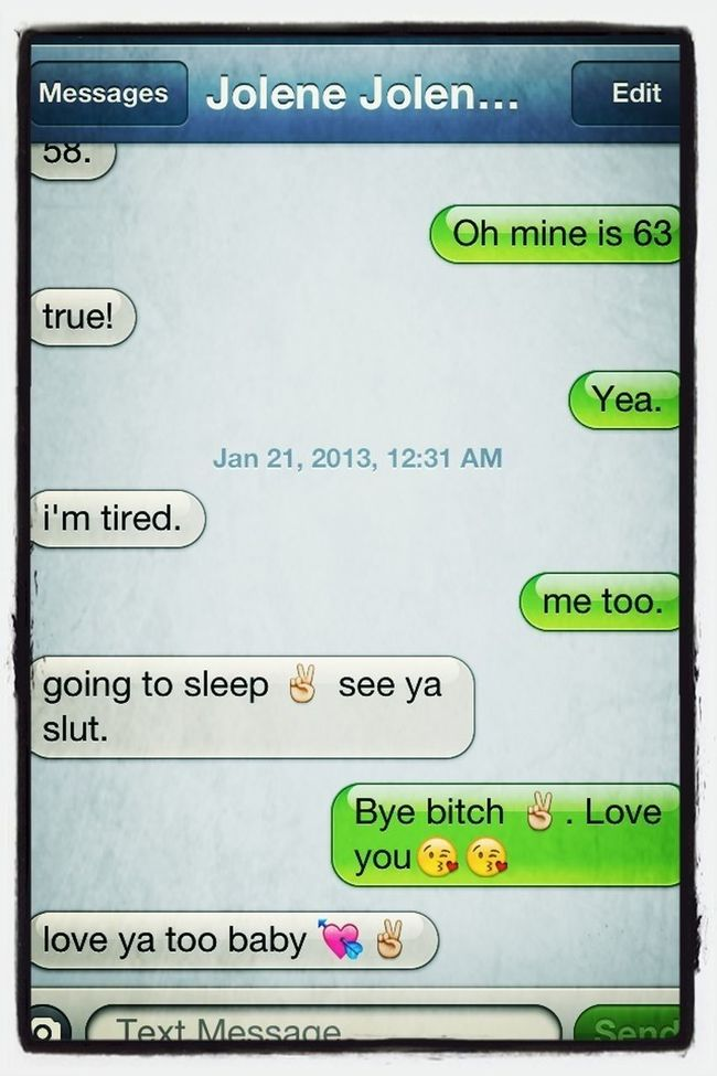 Mine and Brittany's conversations!