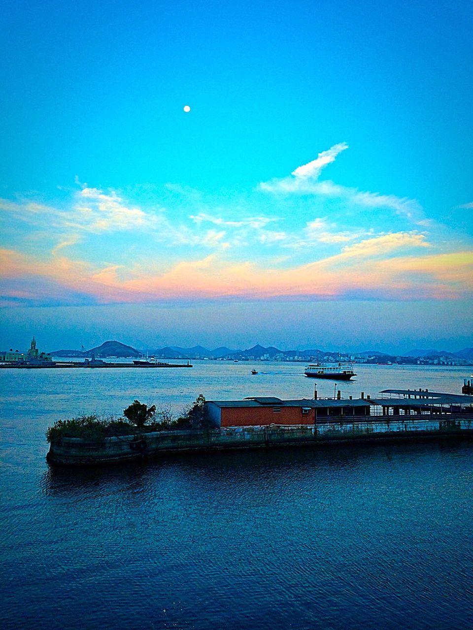 River Marina On Sunny Day