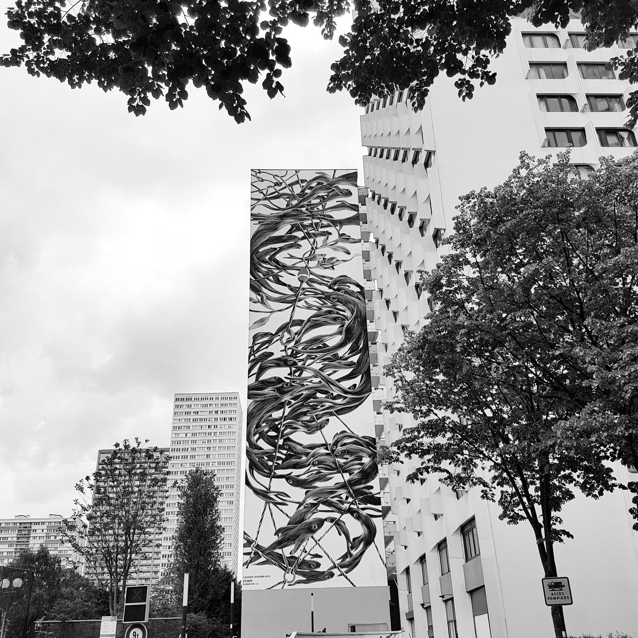 Architecture Black & White Streetart Pantonio Paris13