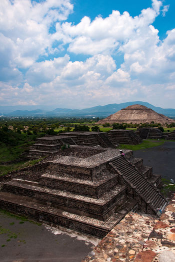 Old Maya ruins of Teotihuacan Architecture Beauty In Nature Cloud - Sky Concentric Day History Maya Maya Bay Nature No People Old Outdoors Outdoors Photograpghy  Photography Pyramid Pyramids S Scenics Sky Stepped Pyramid Steps