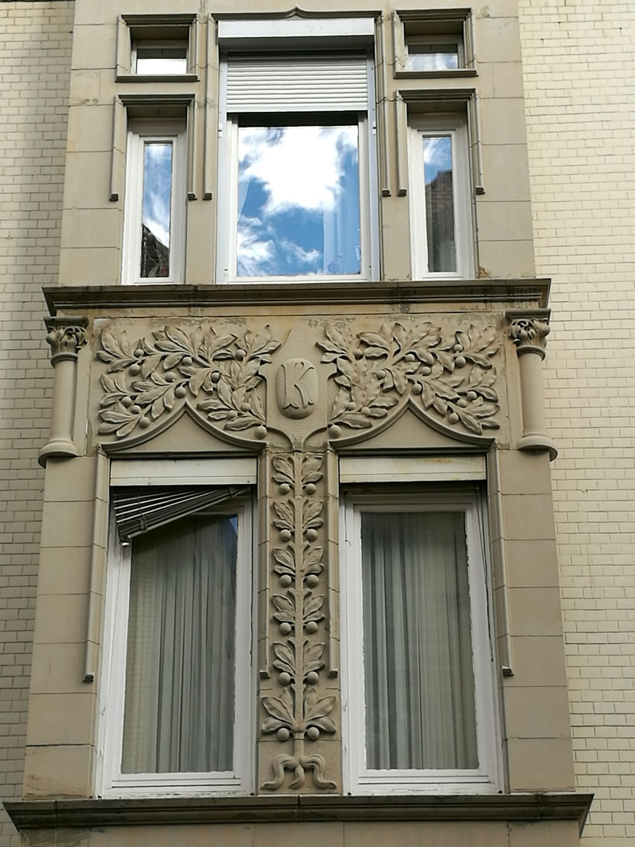 Detail of an Art nouveau house an sun in the window. Architecture Ornate Art And Craft Creativity Art Nouveau Style Art Nouveau Buildings Art Nouveau Architecture Architecture_collection The Past Stuttgart Architectural Detail Historic Arch Architecture Balcony Architecturelovers Stuttgartmobilephotographers