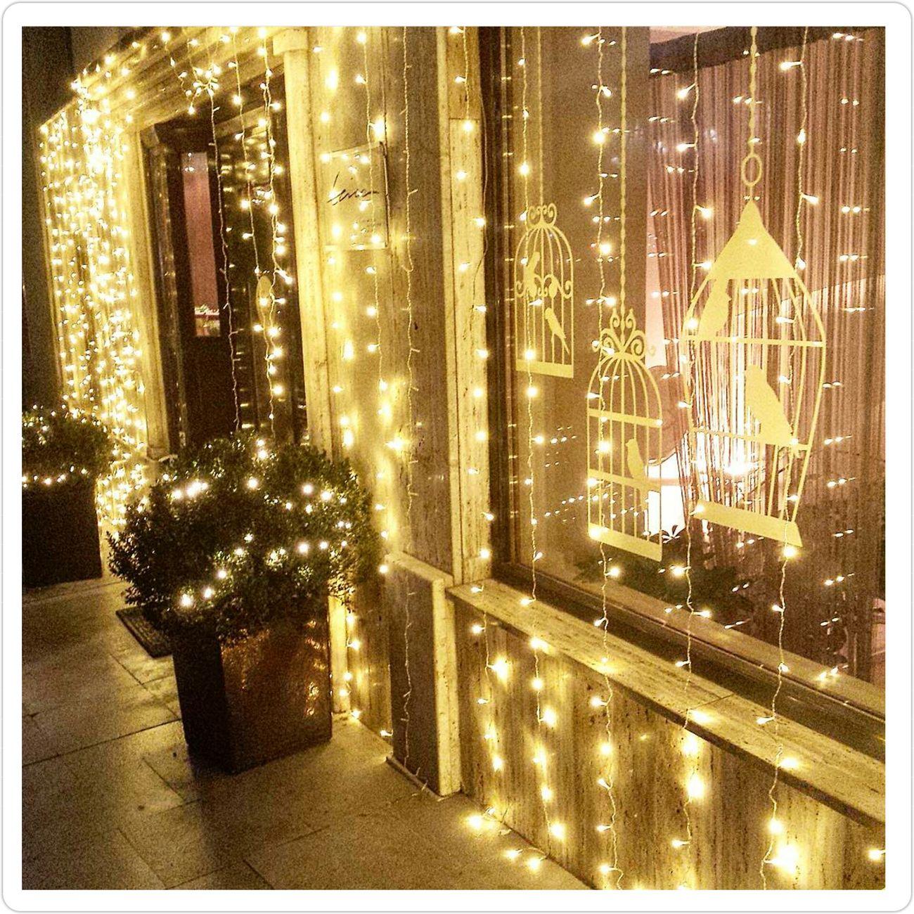 😍😍 Trica Caffebar Entrance Lights HolidayDecorations Birdcage Magical Amazing Osijek Legalegagrad