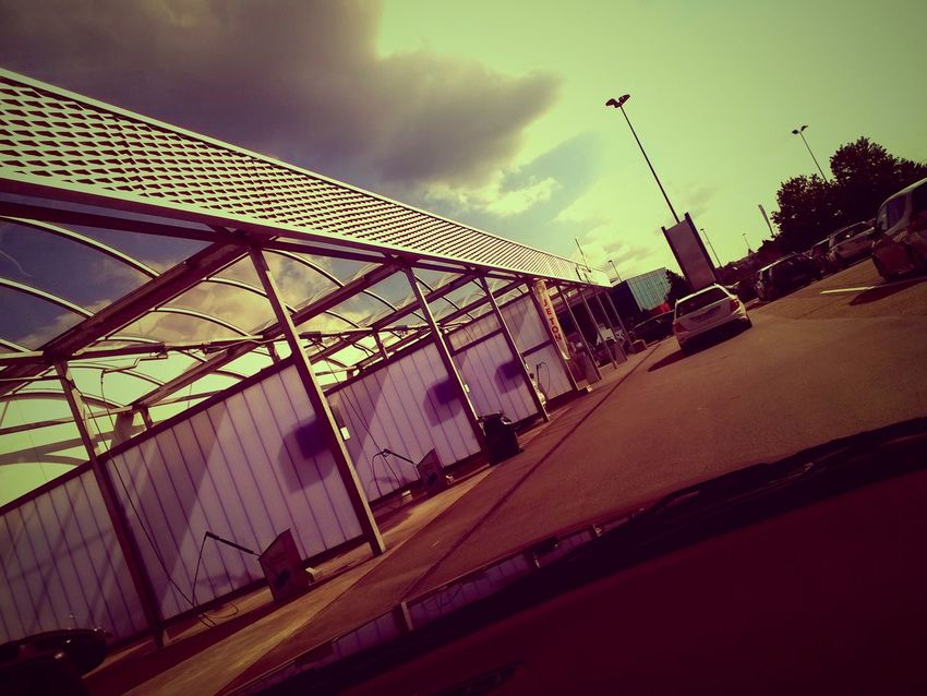 Architecture Built Structure Carwash Cloud - Sky Day Lumia925 No People Outdoors Sky Sunny Day