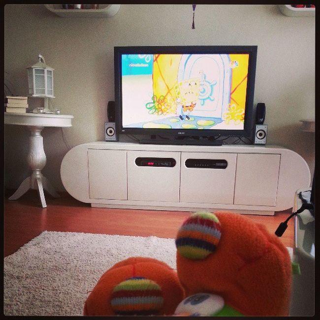 Cumartesi keyfimiz Spongebob Karepantolon Pamiriminpanduflari Temizlikyapabilecekmiyim :)