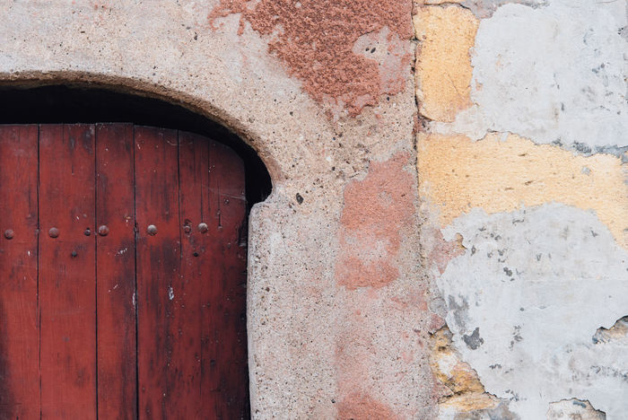 Architecture Building Exterior Built Structure Close-up Colored Day Decrepit Door No People Old Outdoors Scaled Tatty Wall The Architect - 2017 EyeEm Awards
