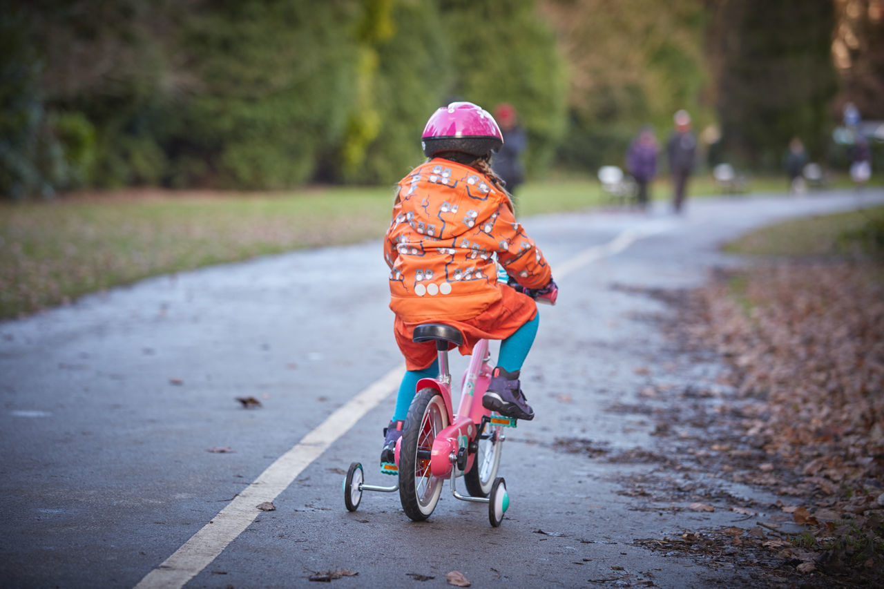 Beautiful stock photos of life,  2-3 Years,  Bicycle,  Casual Clothing,  Childhood